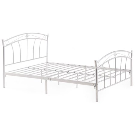 Pemberly Row Twin Metal Panel Bed in White - image 3 de 3
