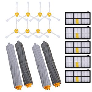KEEPOW Replacement Parts for Roomba 980 960 900 890 880 870 860 800 Robotic Vacuum Cleaner (5pcs Hepa Filters, 8pcs Side Brushes, 2 sets Tangle-Free Debris Extractor)