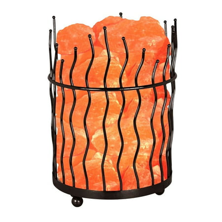 Himalayan Glow Natural Salt Pillar Basket Night Lamp with Dimmer Switch