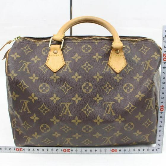7647a885c4 Louis Vuitton - Speedy 30 866197 Brown Monogram Canvas Satchel - Walmart.com