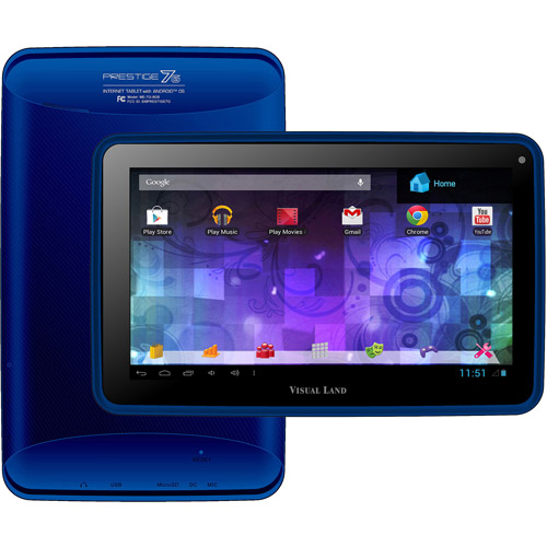 "Visual Land Prestige 7"" Touchscreen Android Tablet 8GB"