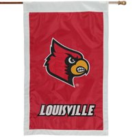 "Louisville Cardinals 28"" x 44"" Double-Sided Applique Vertical Flag"