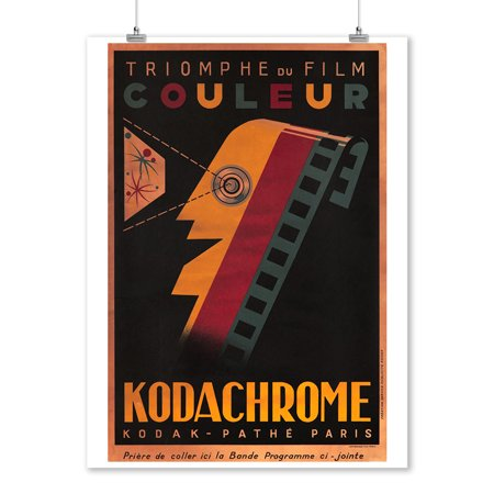 Kodachrome Vintage Poster France C  1935  9X12 Art Print  Wall Decor Travel Poster