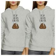 Poop Buddies Unisex Grey Pullover Hoodie Cute Gift For Best Friends