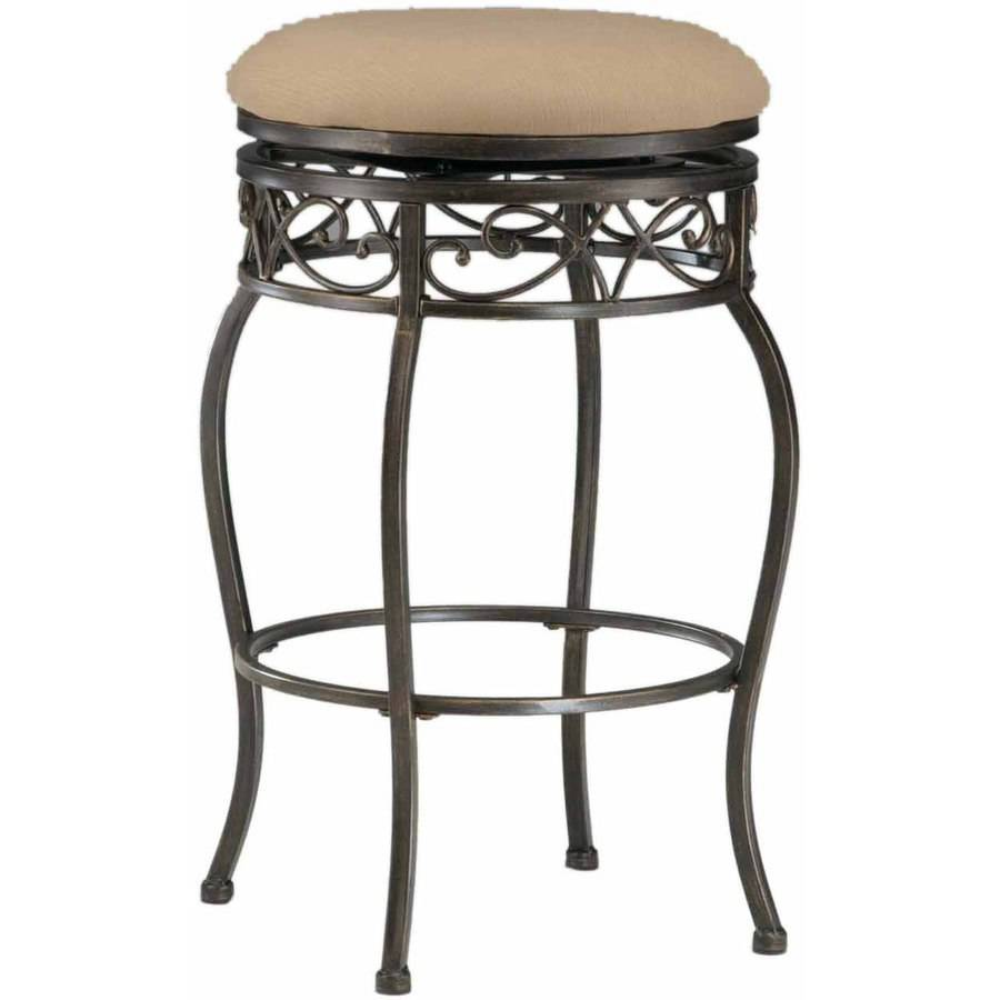 Lincoln Backless Swivel Counter Stool, Black Gold