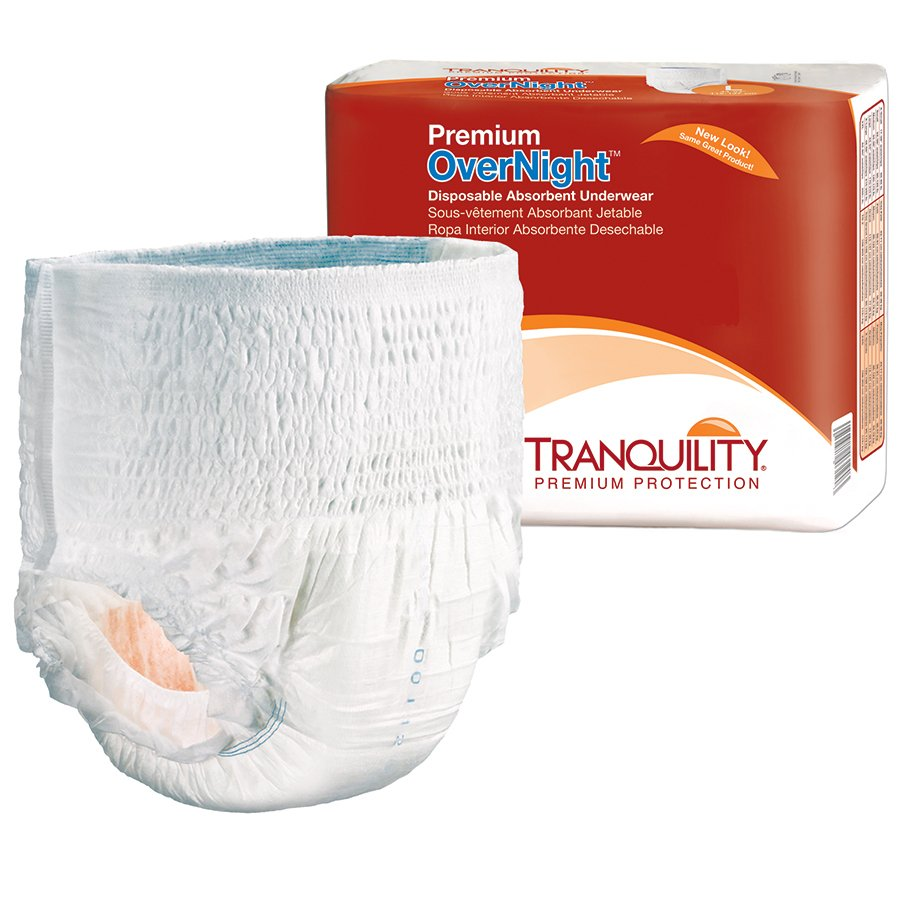 Tranquility Premium OverNight Pull On Heavy Absorbency Disposable  Absorbent Underwear, X-Large