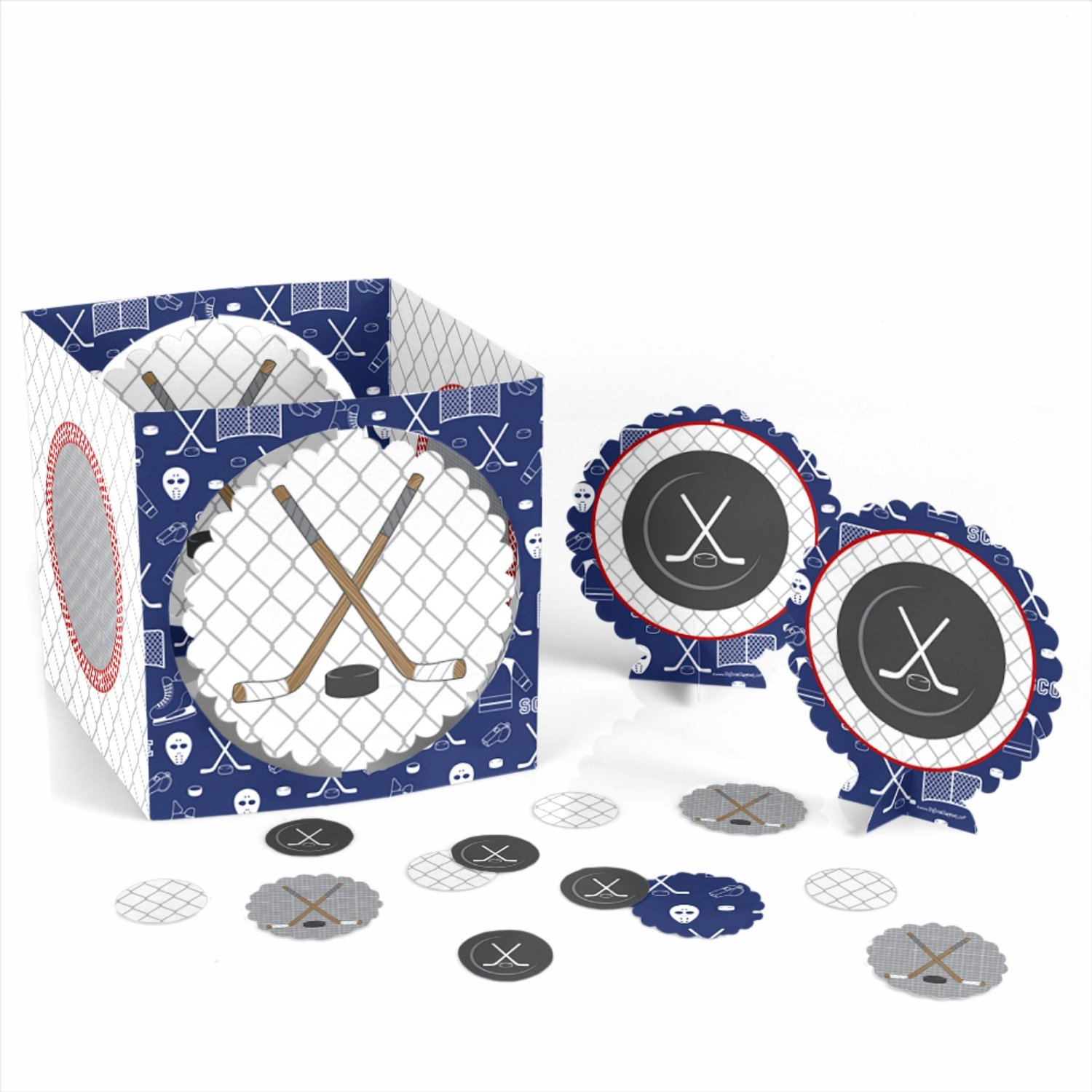 Shoots & Scores! - Hockey Party Table Decorating Kit