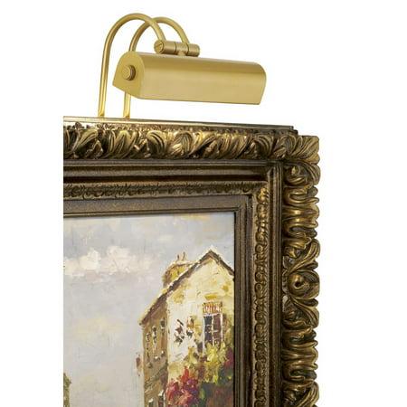 """Possini Euro Design Light Gold 9"""" Wide Plug-In Picture Light"""
