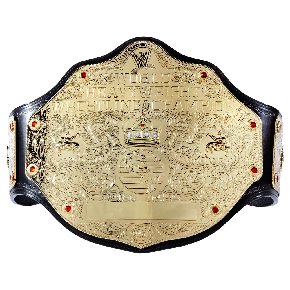 Official Wwe Authentic  World Heavyweight Championship Commemorative Title Belt  Small