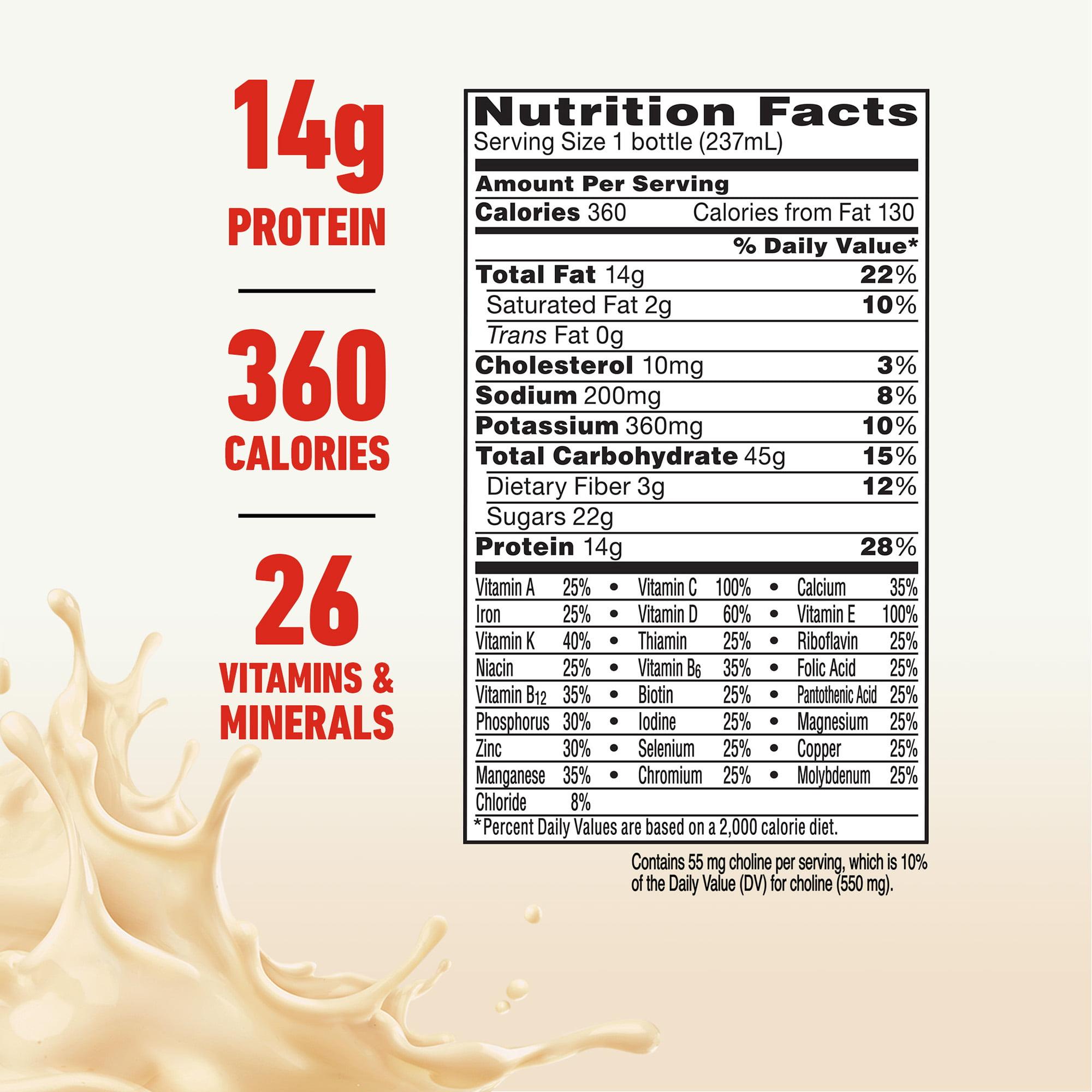 Boost Plus Complete Nutritional Drink, Very Vanilla, 8 fl oz Bottle, 12 Count - Walmart.com
