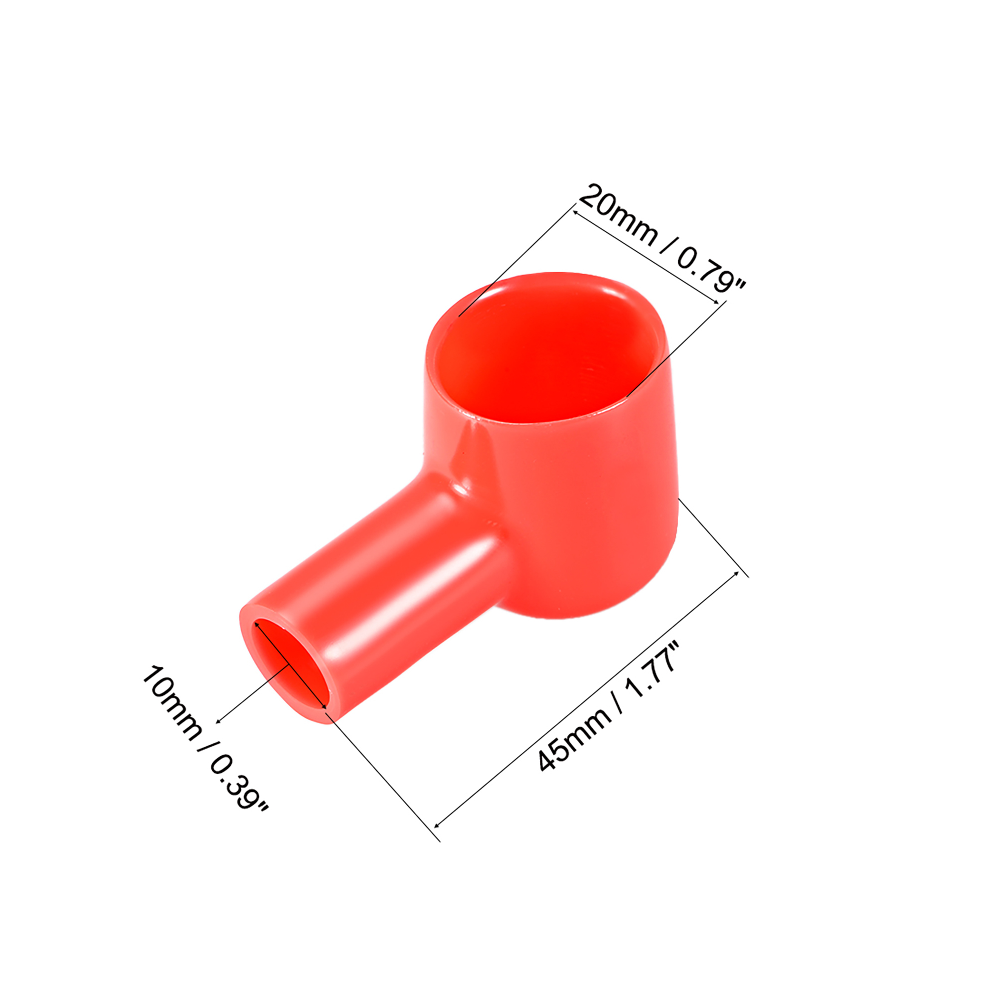 uxcell Battery Terminal Insulating Rubber Protector Covers for 12mm Terminal 3mm Cable Red Black 5 Pairs