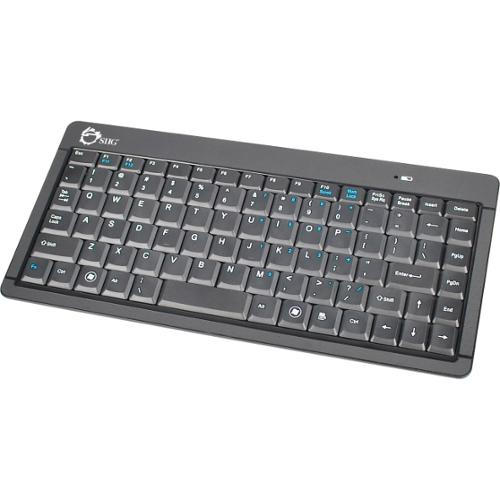 SIIG Wireless Ultra Slim Mini Keyboard - Wireless Connectivity - RF - Retail - USB 2.0 Interface - 87 Key - English (US)