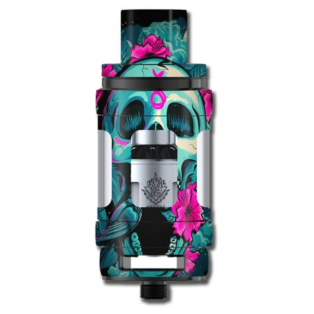 Skins Decals For Smok Tfv12 Cloud King Tank Vape Mod / Skull Dia De Los Muertos Design