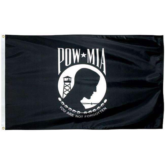 Eder Flag 70146 3 x 5 ft. 200 Denier Nylon Pow Mia Outdoo...