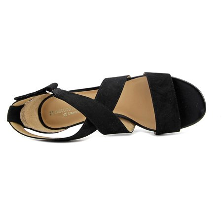 a675227c009 Naturalizer - Naturalizer Adele Women Open Toe Canvas Black Sandals ...