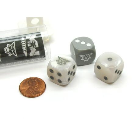 Mechwarrior Spirit Cats Faction 16mm D6 Dice, 3 Pieces in Plastic Storage - Spirit Store Sacramento