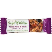 Sage Valley Mixed Nut & Fruit Honey Bar, 1.4 oz, (Pack of 12)
