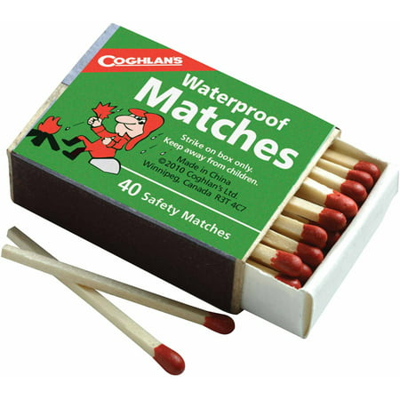 Coghlans 940Bp Waterproof Matches  4Pk