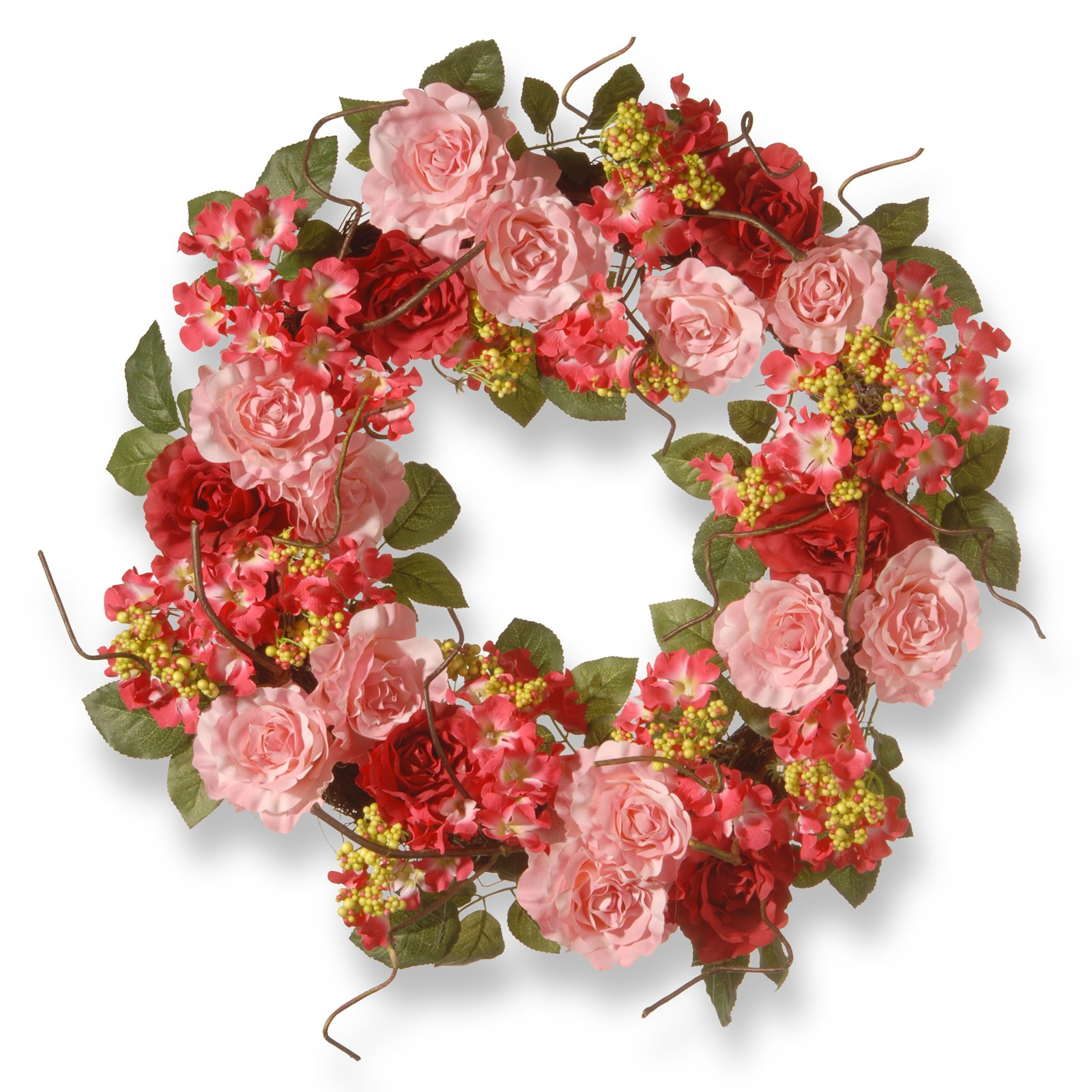 "24"" Pink Rose Wreath"