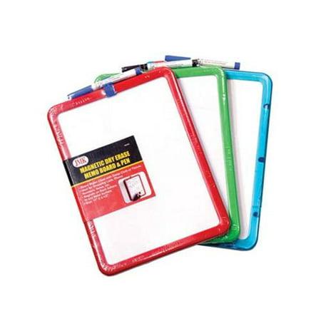 Magnetic Dry Erase Memo Board / Pen, Colors May (Metal Memo Board)