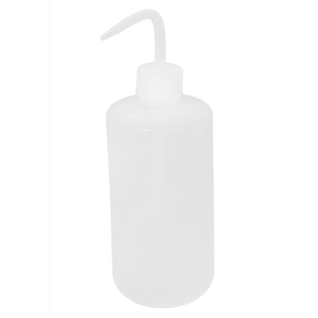 Lab Right Angle Bent Tip Plastic Liquid Storage Squeeze Bottle Dispenser 0.5L (Globe Scientific Dispenser Tip)