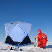 Abri portable pour tente de pêche sur la glace pour 4 personnes avec fenêtres de ventilation et sac de transport