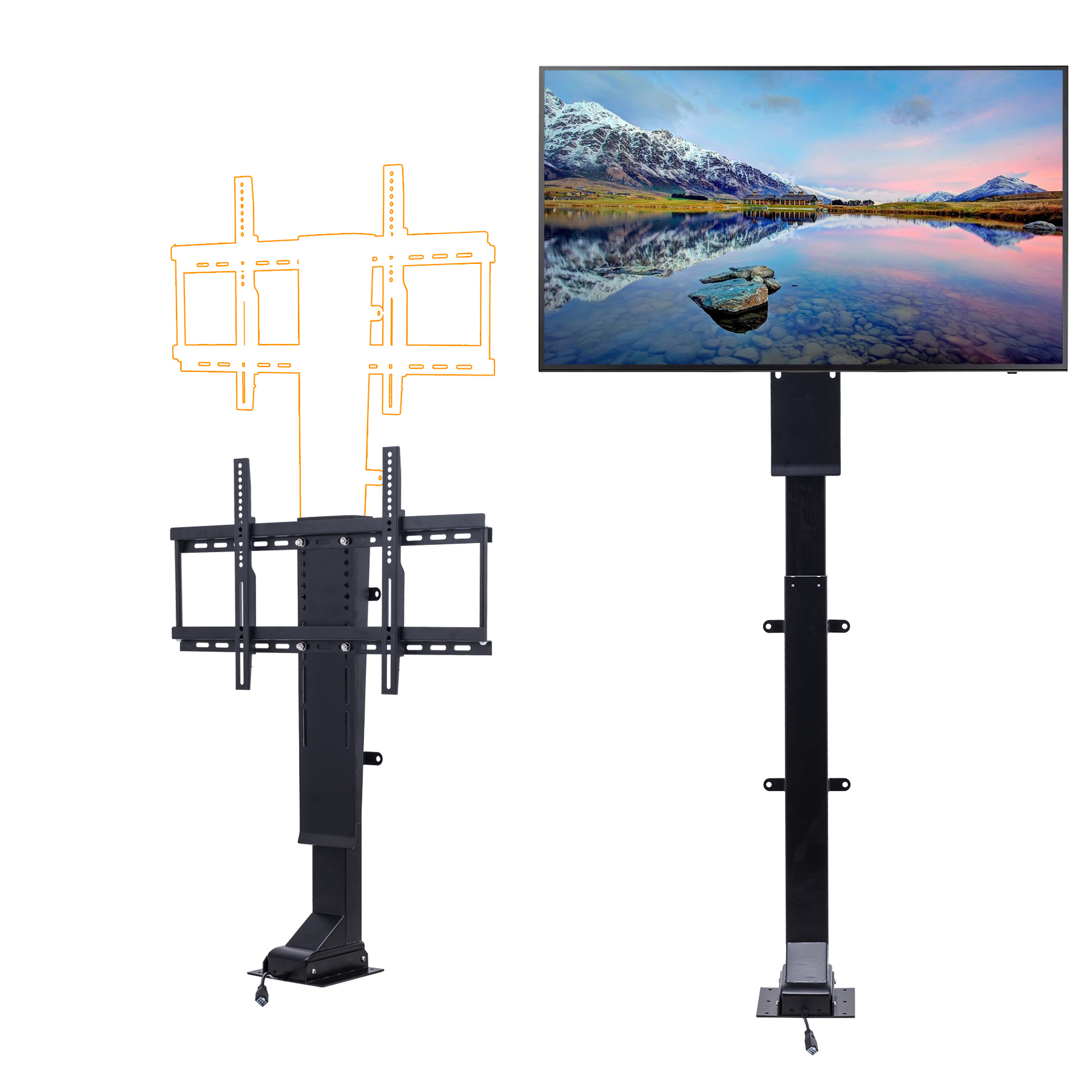 """Motorized TV Mount Lift for 32"""" 70"""" TVs Height Adjustable up to 72"""" w  Remote Controller by"""