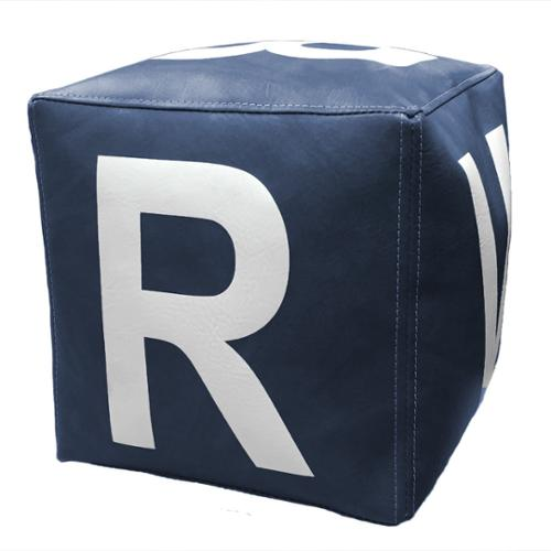 Inno-Block 18-inch Block with 12-inch White Letters in Dark Blue Vinyl