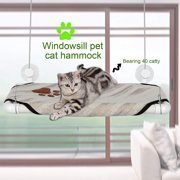 Cat Window  Perch Seat Bed Hanging Shelf Original Comfortable With 4 Suckers BLLK