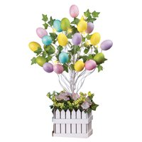 Collections Etc Lighted Easter Egg Tree Table Decoration