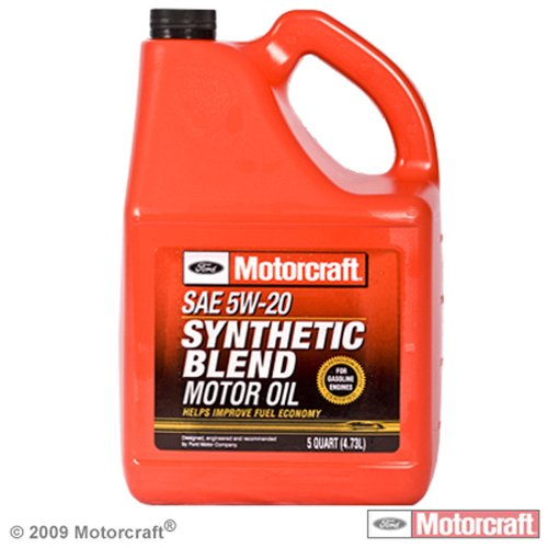 Motorcraft Synthetic Blend Motor Oil, 5W20, 5 qt