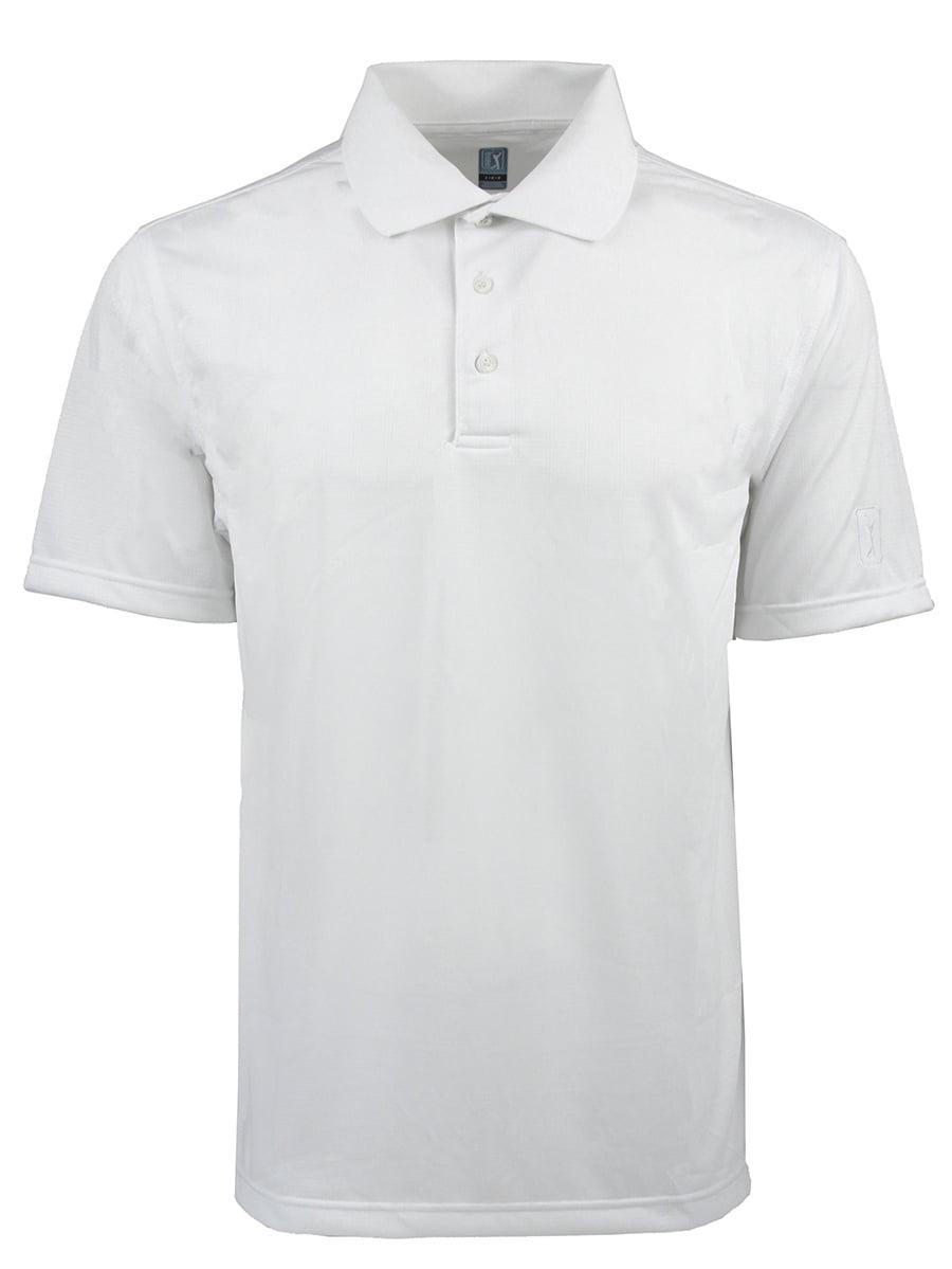 PGA TOUR Mens Short Sleeve Airflux Solid Polo Shirt