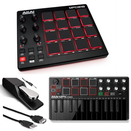 akai mpd218 midi usb pad drum beat controller akai mpk mini mk2 controller blk pedal cable. Black Bedroom Furniture Sets. Home Design Ideas
