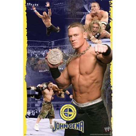 John Cena Poster   Wrestling Collage Wwe   New 24X36