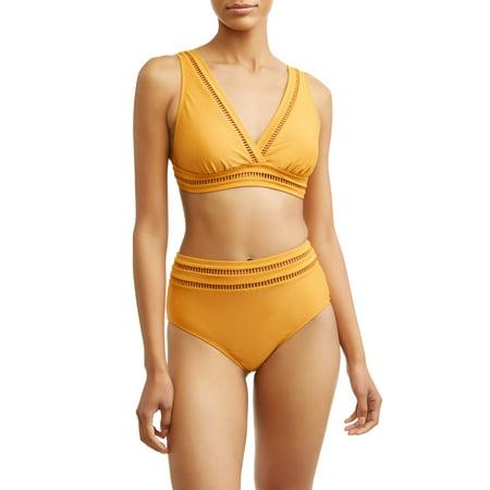 060f611504c31 Time and Tru - Women's Ladder Trim Bikini Swimsuit Top - Walmart.com