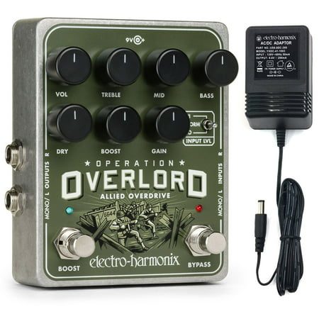 Electro Harmonix Operation Overlord Overdrive Guitar Effects Pedal   9 6Dc 200 Psu Included