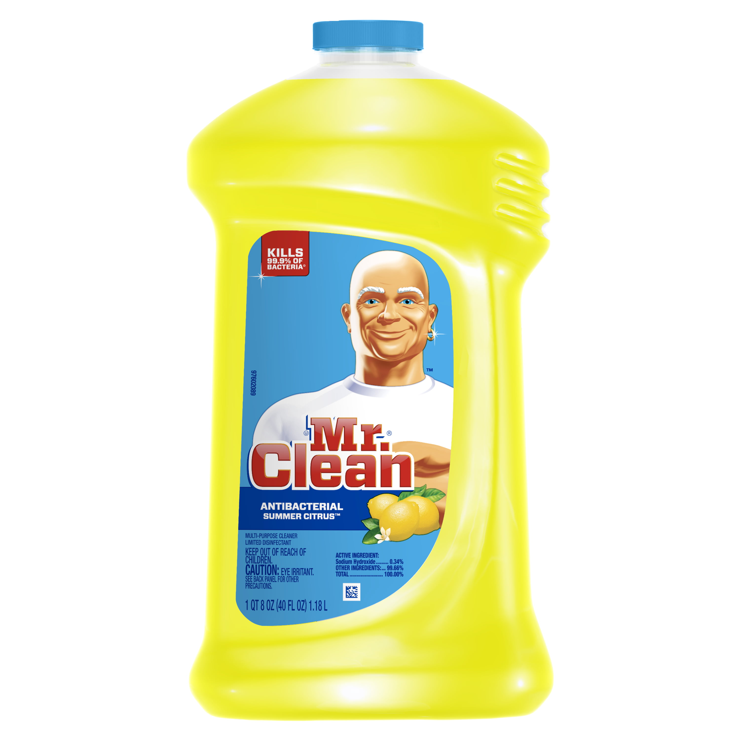 Mr. Clean Antibacterial Multi-Surface Cleaner, Summer Citrus, 40 fl oz