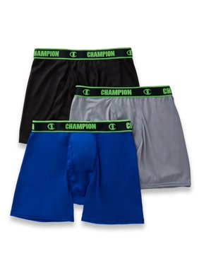 Champion Men's Active Performance Regular Leg Boxer Brief 3-Pack , Size - L