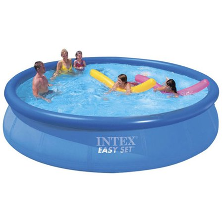 intex 15 39 x 36 easy set above ground swimming pool with. Black Bedroom Furniture Sets. Home Design Ideas