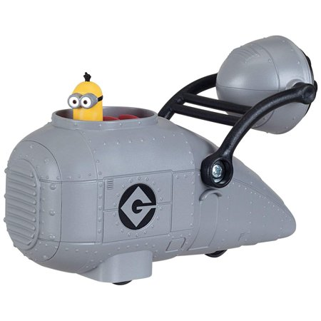 Gru's Vehicle with Minion Toy Figure, Gru's vehicle has a Minion figure sitting inside. By Despicable Me