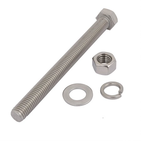 2 Set M12x130mm 304 Stainless Steel Hex Bolts w Nuts and Washers Assortment Kit - image 1 of 2