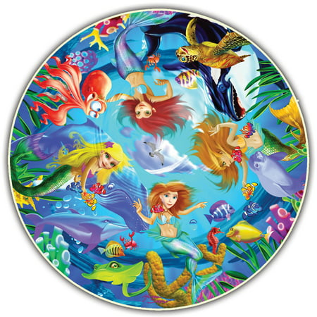 Image of A Broader View's Kids' Round Table - Mermaids by Michael Searle (50-piece)
