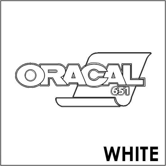 ORACAL 651 Vinyl Roll of Glossy White - Includes Free Multi-Purpose Squeegee - Choose Your Size