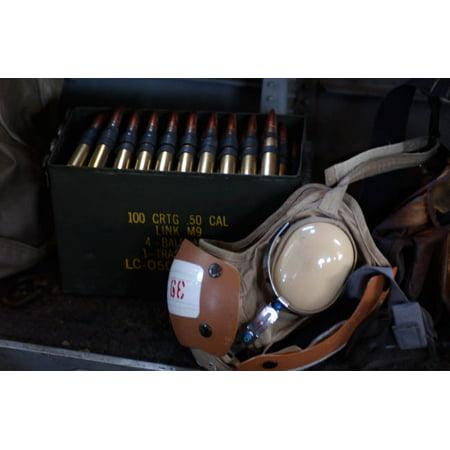 A box of live M2 50 caliber machine gun ammunition Poster Print by Stocktrek