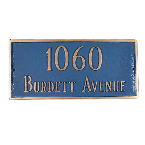 Montague Metal Products Inc. Classic Standard Rectangle Address Plaque