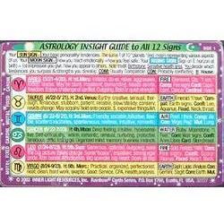 Lotus Brands - Astrology Insight Guide Wallet Cards, 1 ea