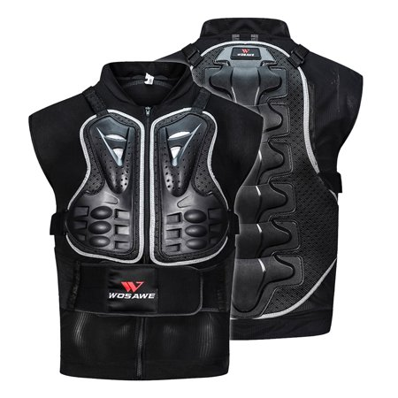 Men's Motorcycle Armor Vest Motorcycle MTB Bike Riding Chest Armor Back Protector Motocross Racing Vest