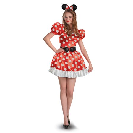 Minnie Mouse Classic Disney Womens Mickey Mouse Clubhouse Costume DIS58791 - Small (4-6) (Adult Mickey And Minnie Costumes)