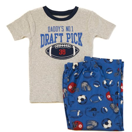 63a289176f0f Carter s - Carters Boy s Daddy s No. 1 Draft Pick PJ Set Gray ...