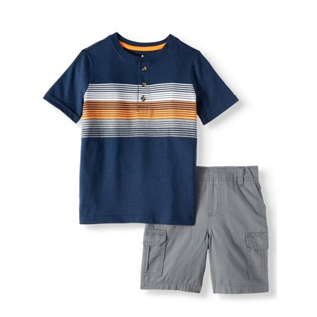 Halloween Outfits For 2 Year Old Boy (Henley & Essential Shorts, 2-Piece Outfit Set (Little Boys & Big)